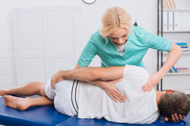local chiropractor treating a patient